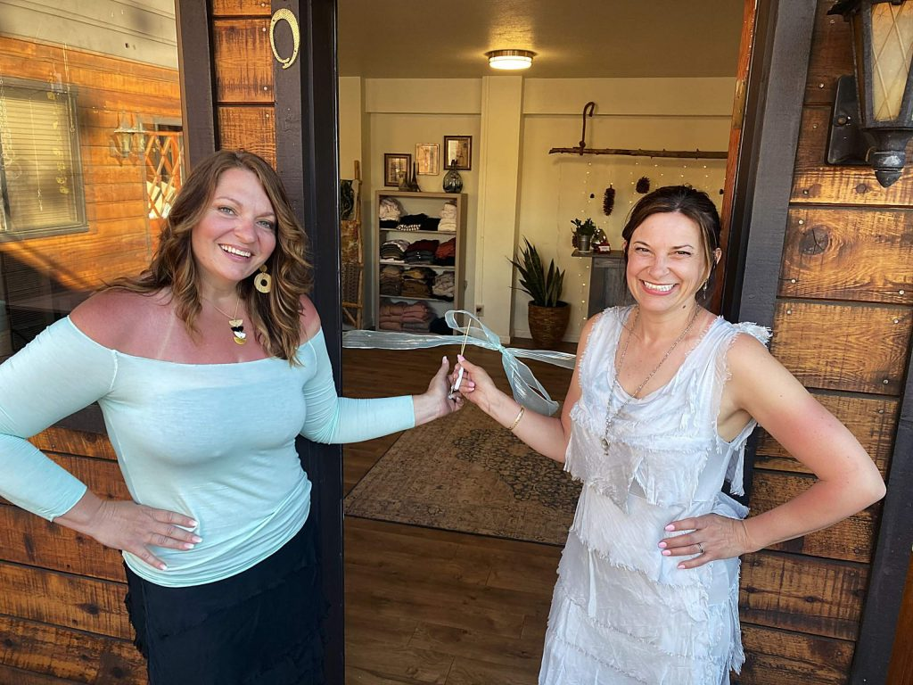 Collins (left) and Dorris (right) launched their online business in March and opened the storefront in July.