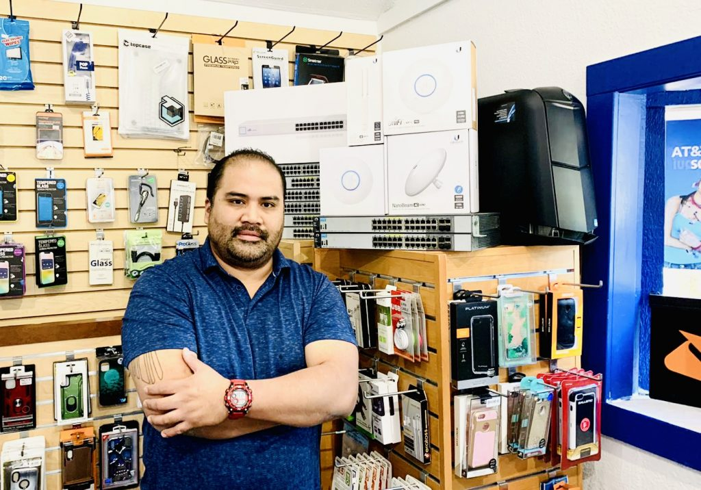 Julio Arrue, owner of Lake Tahoe Computers located in South Lake Tahoe, would like to take this opportunity to thank the fire crews and law enforcement for saving and protecting our town during the Caldor Fire. (photo courtesy of Lake Tahoe Computers)